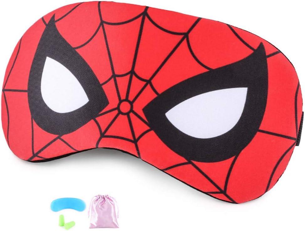 Masque de yeux Masque de Sommeil pour enfants Spiderman Respirable Eye Mask Eyeshade Cover Bandeau avec bandeau en gel