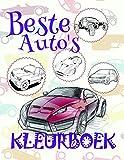 Beste Auto's  Kleurboek : Easy Coloring Book for Boys 4-12 Year Old  (A SERIES OF COLORING BOOKS: Kleurboek Beste Auto's)
