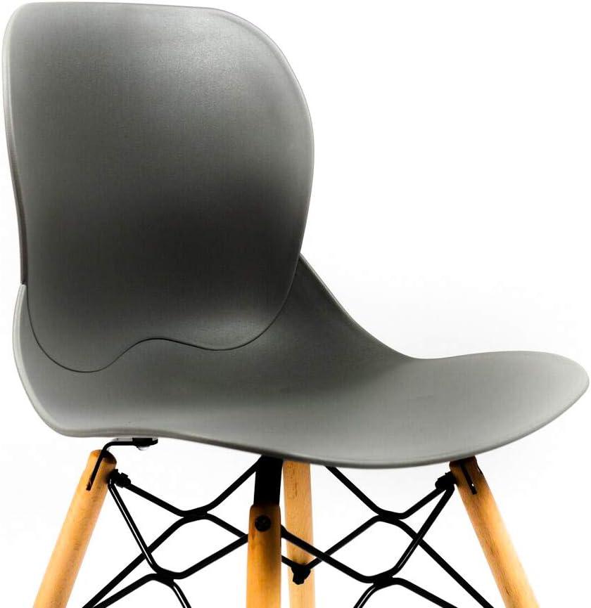 CAMBIA TUS MUEBLES Pack de sillas Comedor sal/ón Dreams con Patas en Madera Estilo n/órdico Amarillo