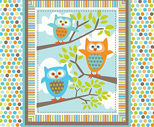 Owl Fabric What The Hoot Quilt by Bzbdesigner Printed on Faux Suede Fabric by the Yard by Spoonflower (What Do Christmas Trees Represent)