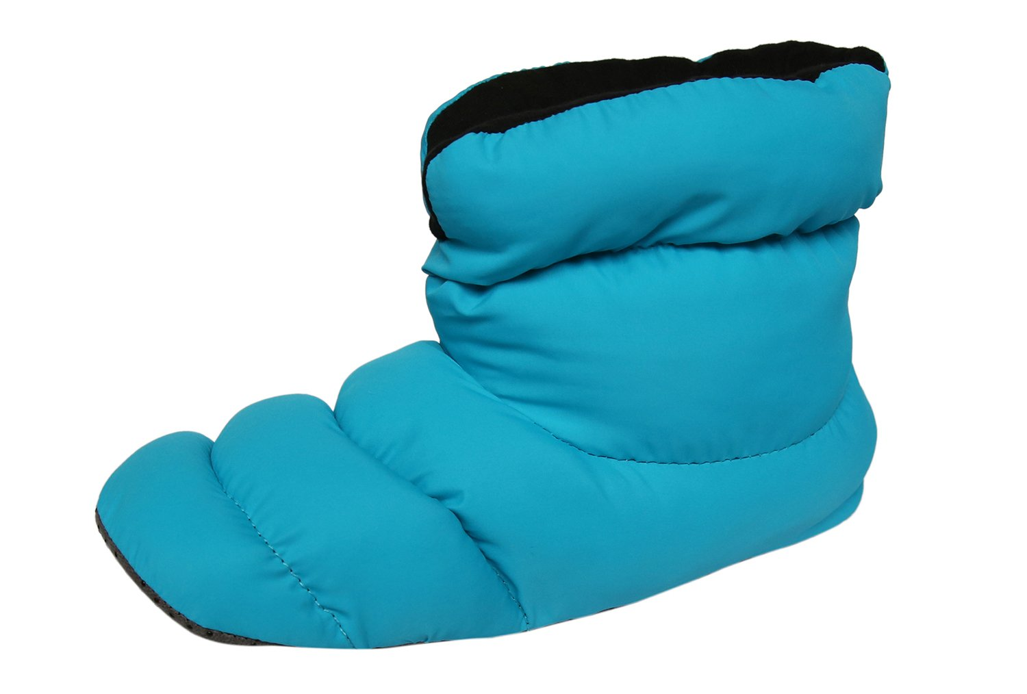 SLPR Unisex Warm Cozy Indoor Mid Bootie Slippers With Non-Slip Sole (Blue/Black, Large)   Perfect For House Bedroom Dorm Camping
