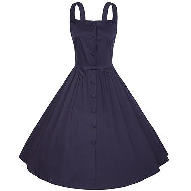 ramasser qualité de la marque promotion spéciale Dressvip Femme Robe Rétro Vintage Années 50 Sans Manches ...