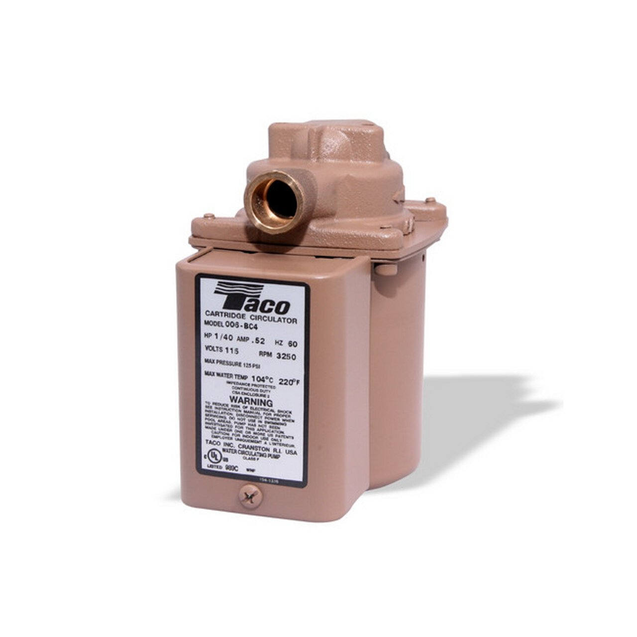 Taco 006-BC4 Bronze Cartridge Circulating Pump by Taco