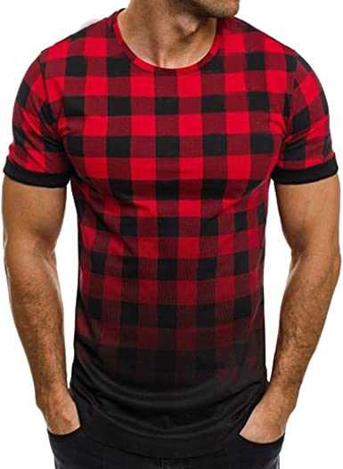 MORCHAN Pull Muscle Casual Et/é Homme Manches Courtes Mesh Shirt Top Chemisier