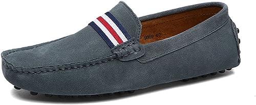 prix spécial pour utilisation durable ramasser Eagsouni® Mocassins en Daim Hommes Penny Loafers Casual Bateau Chaussures  de Ville Flats