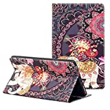 PC Hardware : ZAOX Folio Case for All-New Amazon Fire HD 8 Tablet (7th Generation, 2017 Release) Folding Slim Fit Premium Leather Standing Protective Smart Cover with Art Pattern Auto Wake/Sleep (Elephant Floral)