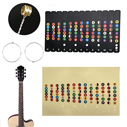 Stringed Instruments Guitar Scale Stickers Sound Name Stickers Self-learning Electric Guitar Beginner Fingerboard Stickers Guitar Accessories 100% Original