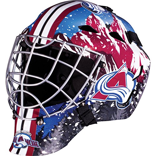 Colorado Avalanche NHL Full Size Youth Goalie Hockey Mask - New with Tags - Not for Competitive Play