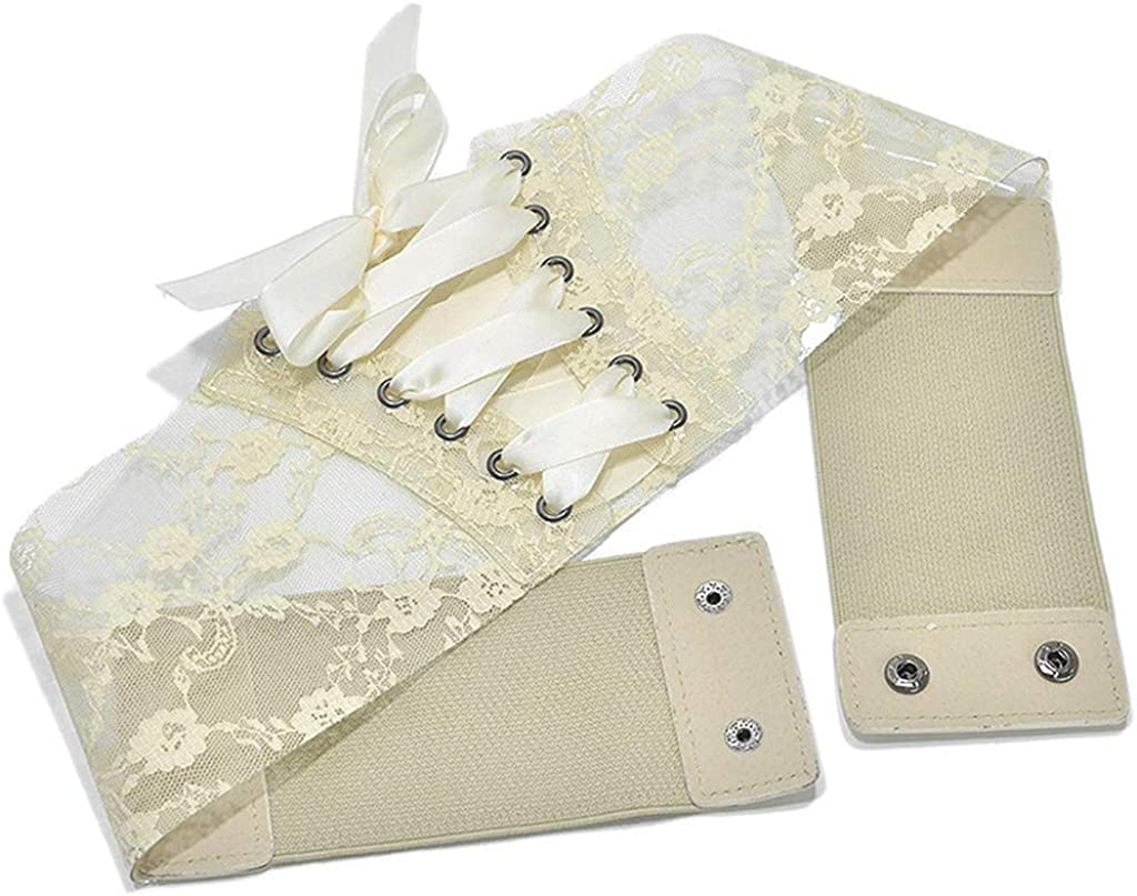 Soft Faux Leather Transer Lace Vintage Belt Bow Tie Self Tie Wrap Around Lace Up Waist Straps Belt for Party Grown Dress