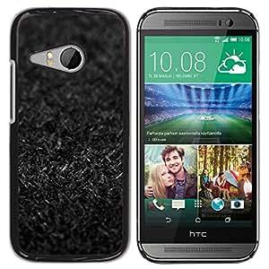 Be Good Phone Accessory // Dura Cáscara cubierta Protectora Caso Carcasa Funda de Protección para HTC ONE MINI 2 / M8 MINI // Dirt Deep Dark Black Grey Death Grave