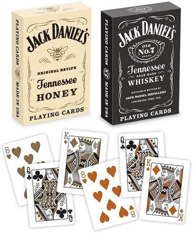 Bicycle Jack Daniels Black /& Gold Honey Tennessee Whiskey Playing Cards Set of 2