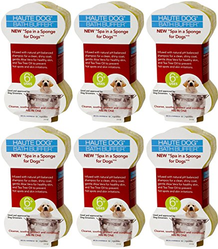 Spongeables Spa-In-a-Sponge for Dogs, 2.5oz (6 Sponges) by Spongeables