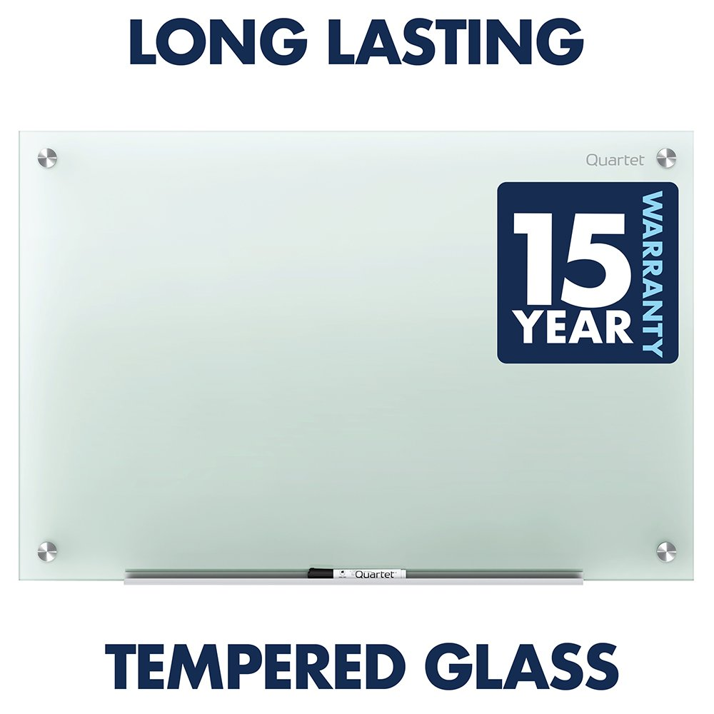 Quartet Glass Whiteboard, Non-Magnetic Dry Erase White Board, 8' x 4', Infinity, Frosted Surface (G9648F) by Quartet (Image #5)