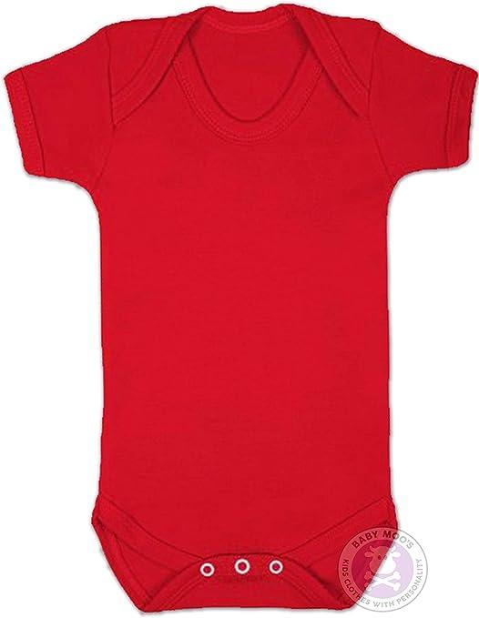 Baby Moos UK - Body para bebé, color rojo rojo rosso Talla:6-12 ...
