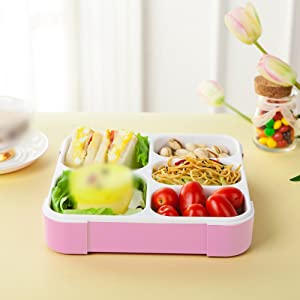 Lunch Box 5 Slots Practical Leak-Proof Lunch Box Portable Lunchbox Good Quality Picnic Box 5 Compartments Food Container