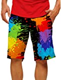 Loudmouth Golf Mens Paint Balls Shorts Black Multi 38