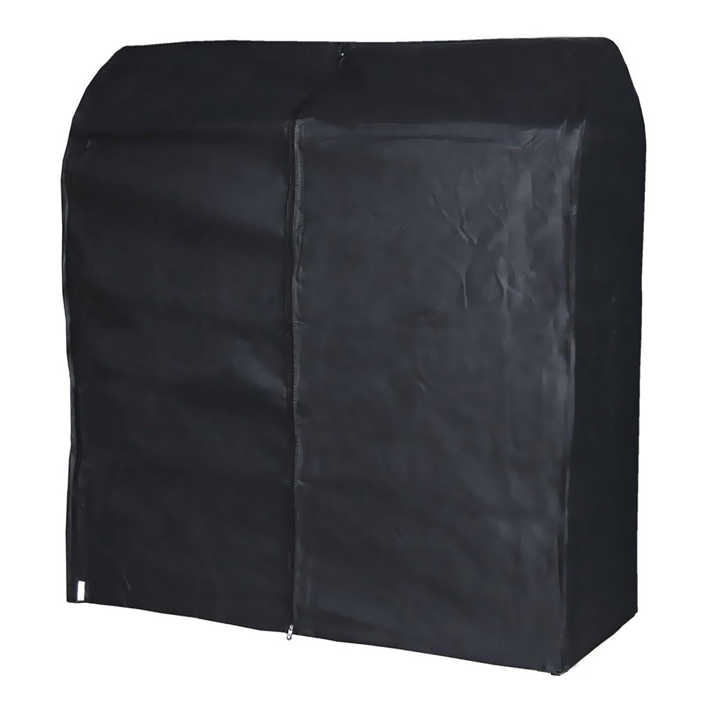 Hangerworld Funda 121cm para Perchero Cubierta para Burro Transpirable Negro Antipolvo con Cremallera: Amazon.es: Hogar