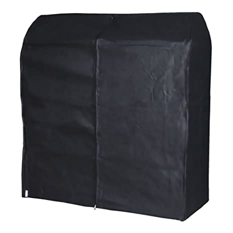 Hangerworld 3 Fundas 121cm para Perchero Burro Transpirable Negro Antipolvo con Cremallera