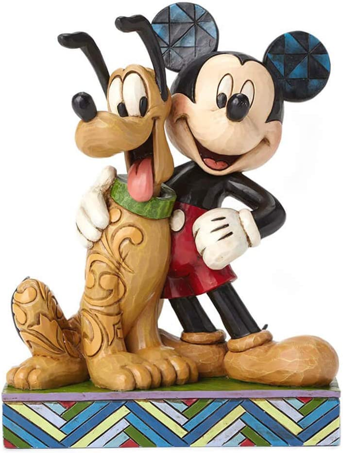 Boxed Collectors Disney A Banner Day Mickey and Pluto Patriotic Figurine