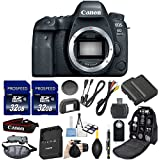 Canon EOS 6D Mark II DSLR Camera 26.2 MP (Body Only) Kit Includes 2Pcs 32GB Commander Memory Card + Extra Battery + Backpack Case + Grip Strap + Air Blower + Cleaning Kit