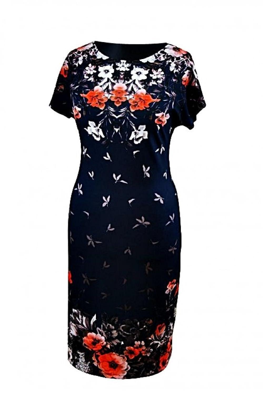 Berry® Damen Kleid Kurzarm mit Druckmuster Gr. 38-54