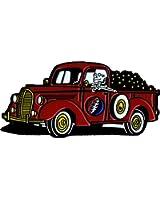 Skeleton Driving Truck - Lightning Bolt - Enamel Pin