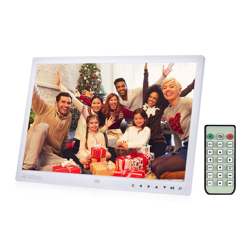 Digital Picture Frame, Andoer 13 inch LED Digital Photo Frame 1080P HD Resolution Desktop Display Image MP4 Video Support Auto Play with Infrared Remote ...