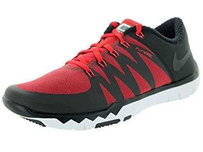 premium selection 56e60 fc207 Amazon.com   Nike Free Trainer 5.0 V6 amp Mens Black Red Silver Running  Sneakers   Fashion Sneakers