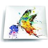 Demdaco 3005050313 Kaleidoscope Butterfly Snack Plate, Multicolored