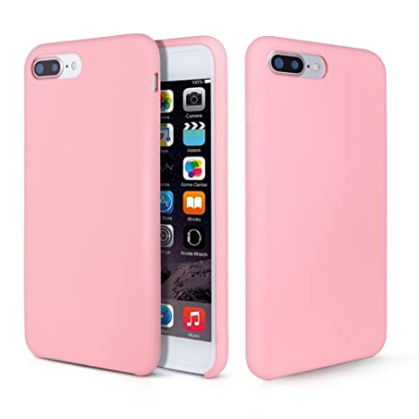 nuovo stile 932a4 9e6f0 iPhone 8 Plus Case, Fuleadture Liquid Silicone Rubber iPhone 7 Plus 8 Plus  cover Slim Fit Anti-Scratch Shockproof Protective Case with Soft Microfiber  ...