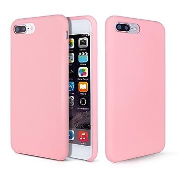 Funda iPhone 8 Plus, Fuleadture iPhone 7 Plus Slim Líquido de Silicona Gel Carcasa Alta Calidad Anti-Rasguño y Resistente Totalmente Protectora Caso ...