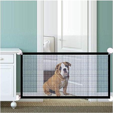 AGLZWY Valla De Seguridad para Mascotas Retráctil Separador De Estancias Escaleras Barrera para Mascotas para Cocina, 2 Tamaños (Color : Negro, Size : 110x72cm): Amazon.es: Hogar