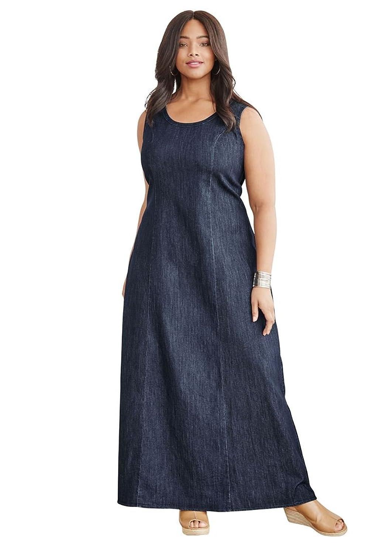 Jessica London Women\'s Plus Size Denim Maxi Dress [4SrEx0500858 ...