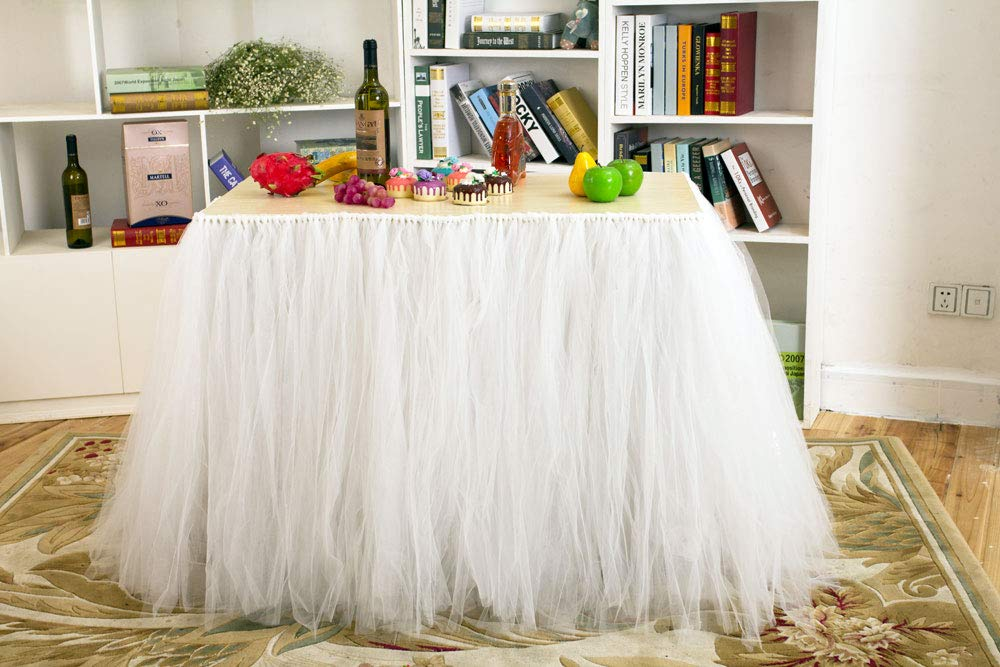 Tutu Table Skirt Pink Tulle Tablecloth 3ft Birthday Wedding Party Decoration Baby Shower Home Decor Tableware Cover Cloth For Rectangle Or Round Tables 31 36 Inch Coutudi Pink Kitchen Dining Kolenik Kitchen
