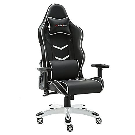 Home Kitchen Video Game Chairs Black Jl Comfurni Gaming Chair Chesterfield Ergonomic Swivel Office Chair High Back Heavy Duty Home Office Computer Desk Chair Pu Leather Recliner Sport Racing Chair Home
