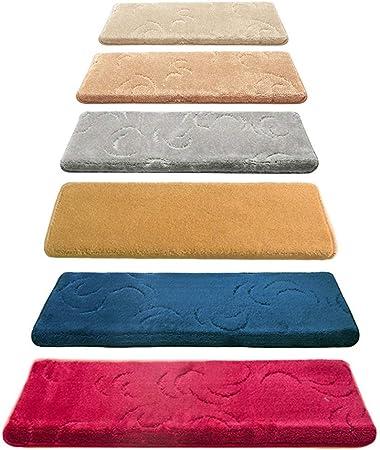 Oanzryybz Escalera Mats Mats Peldaños de Escalera Escalones de alfombras Antideslizantes, alfombras extraíbles Paso Suelo Lavables for escaleras, especializados for Interiores Pasos de Madera, j: Amazon.es: Hogar