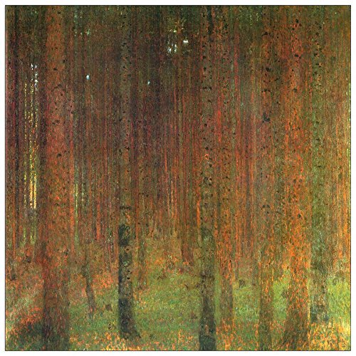 Wood Multi-Colour 70 x 1.8 x 70 cm ArtPlaza Klimt Gustav-Tannenwald II Decorative Panel