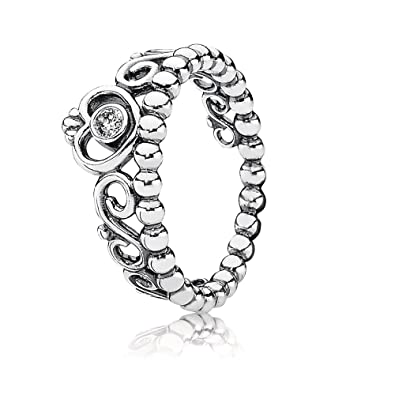 747e87fd5b2d8 PANDORA My Princess Stackable Ring, Sterling Silver, Cubic Zirconia, Size 5