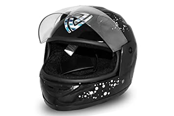 Nitro Motors - Casco infantil integral para motocicleta, color negro Talla:extra-large