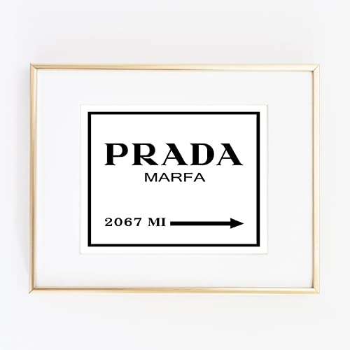 4e8e72b311048 Amazon.com: Print Prada Marfa from NY distance Color Black and White ...