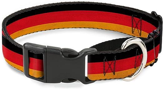 Buckle Down - Collar para Perro con Bandera de Alemania, con Efecto meteorológico, 2,5 cm de Ancho, para Cuello Mediano de 28 a 43 cm: Amazon.es: Productos para mascotas