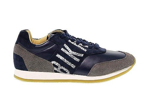 Bikkembergs Hombre Bke108293 Azul Gamuza Zapatos: Amazon.es: Zapatos y complementos