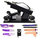 Sexmaschine - Automatische Masturbation Machine Gun mit Dildo Set für Frauen, Super Starke und Stabile Fucking Machine (Schwarz-01)