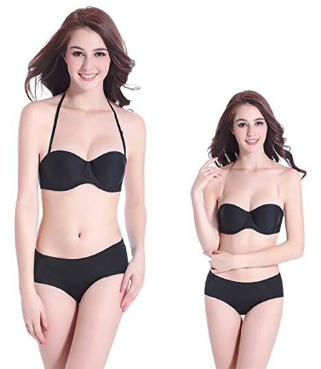 Mayuber Womens Strapless Bra Thin Padded Underwire Push Up T-Shirt  Invisible Bras Convertible Multiway Straps at Amazon Women s Clothing store  29369fbd1