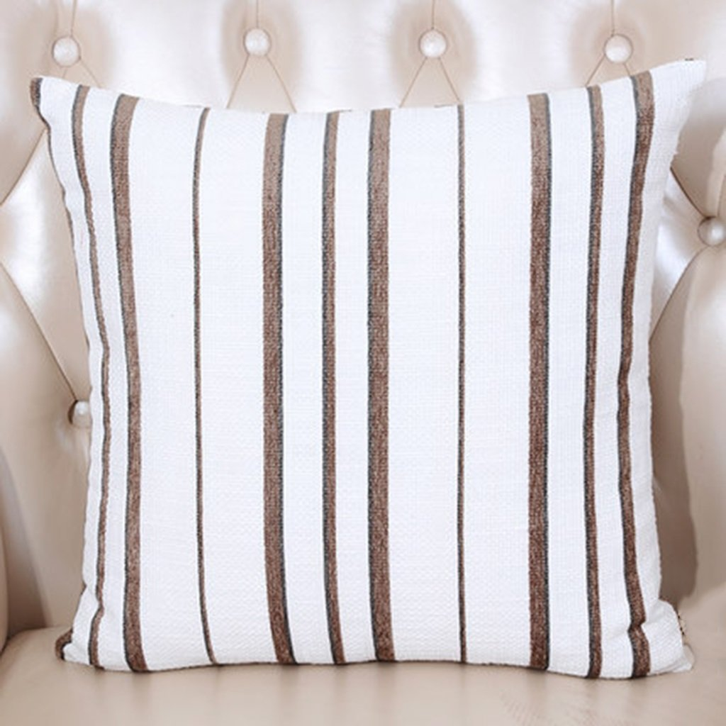 ZUOANCHEN Cushion Art Stripe Sofa Pillow Bay Window Cushion Office Lumbar Car Lumbar Cushion with Pillow Blue 5050cm (Color : B)
