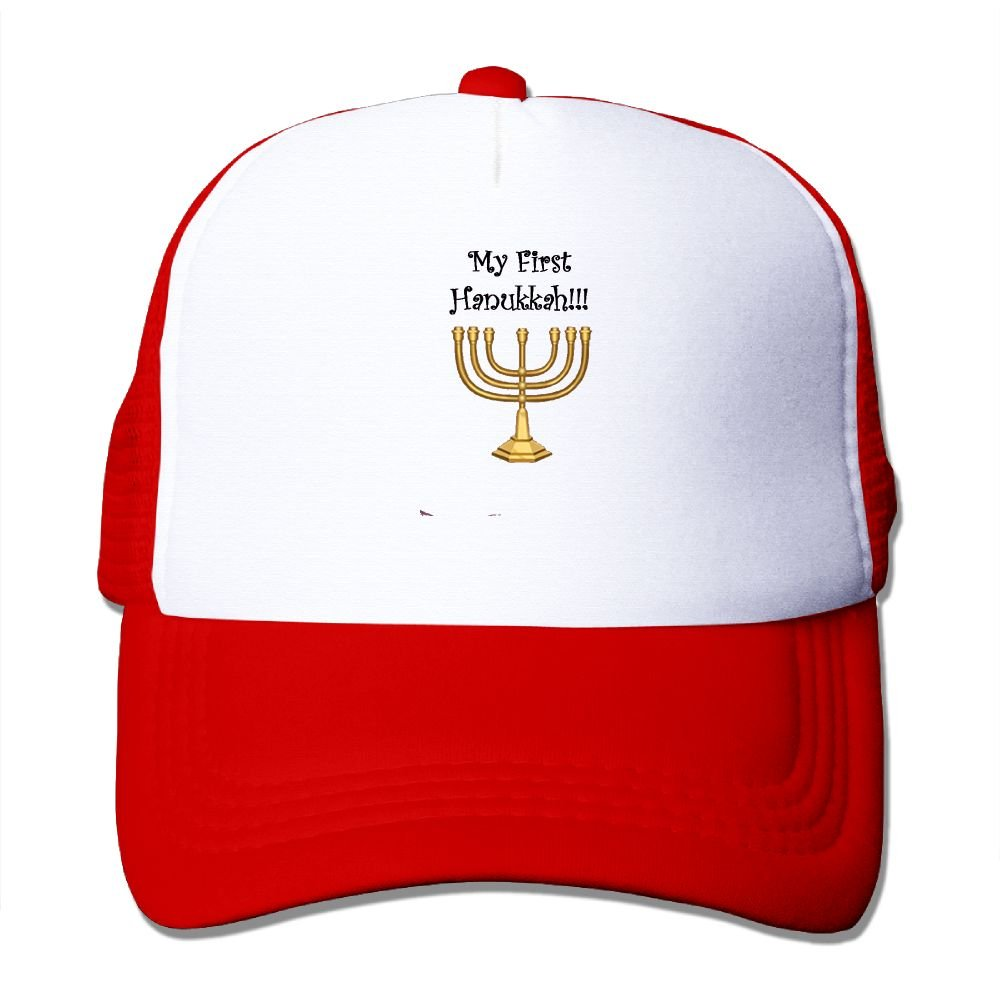 FeiTian 1st Hanukkah Fitted Baseball Caps For Men Casual Great For Activities Climbing Snapback Hats