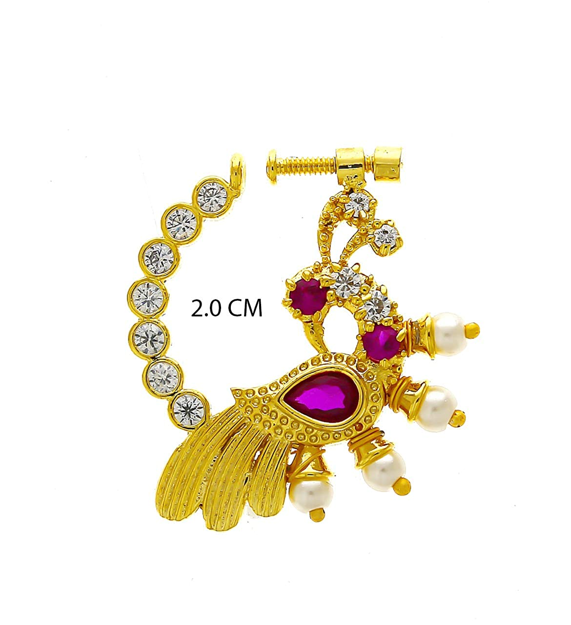 Buy Anuradha Art Jewellery Golden Finish Studded Stone Fancy