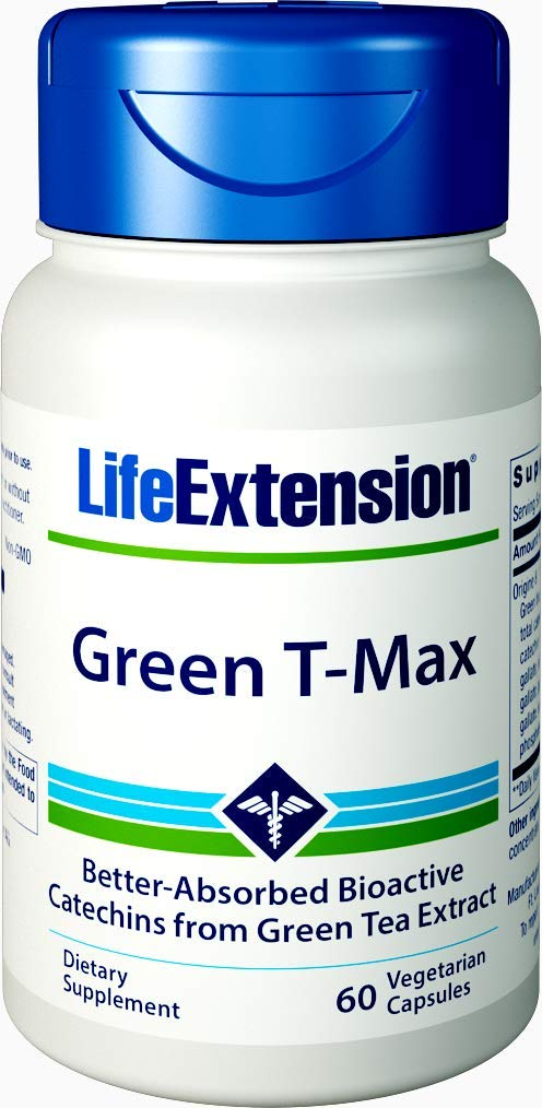 Life Extension Green T-max, 60 Count
