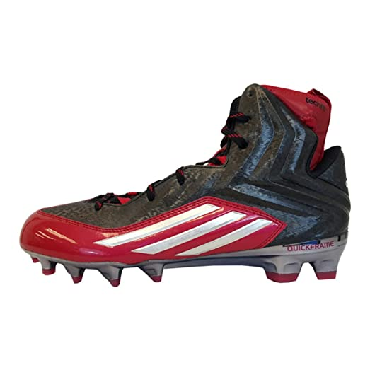 Adidas Crazyquick 2.0 High NCAA Mens Football Cleat 15 Black-Platinum-Power  Red