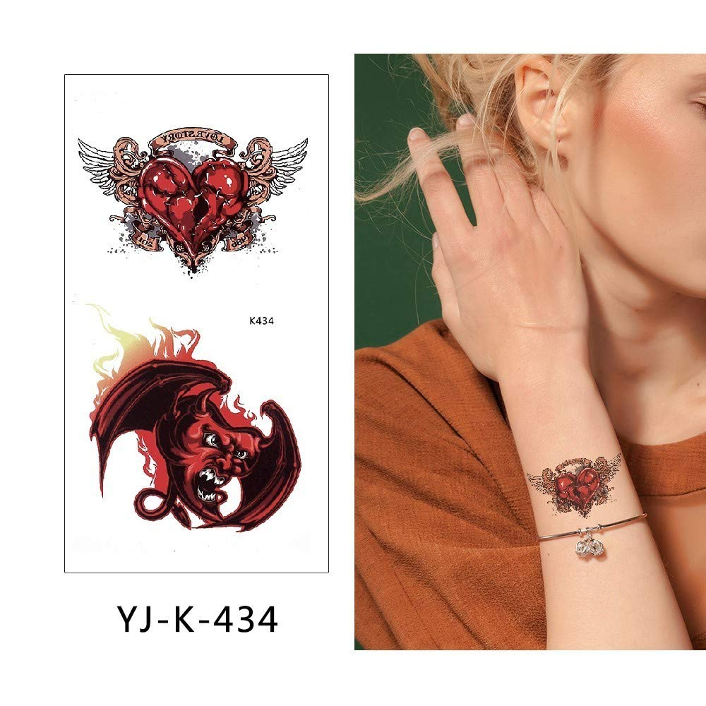 adgkitb 3 Piezas Etiqueta engomada del Tatuaje Temporal Falso ...